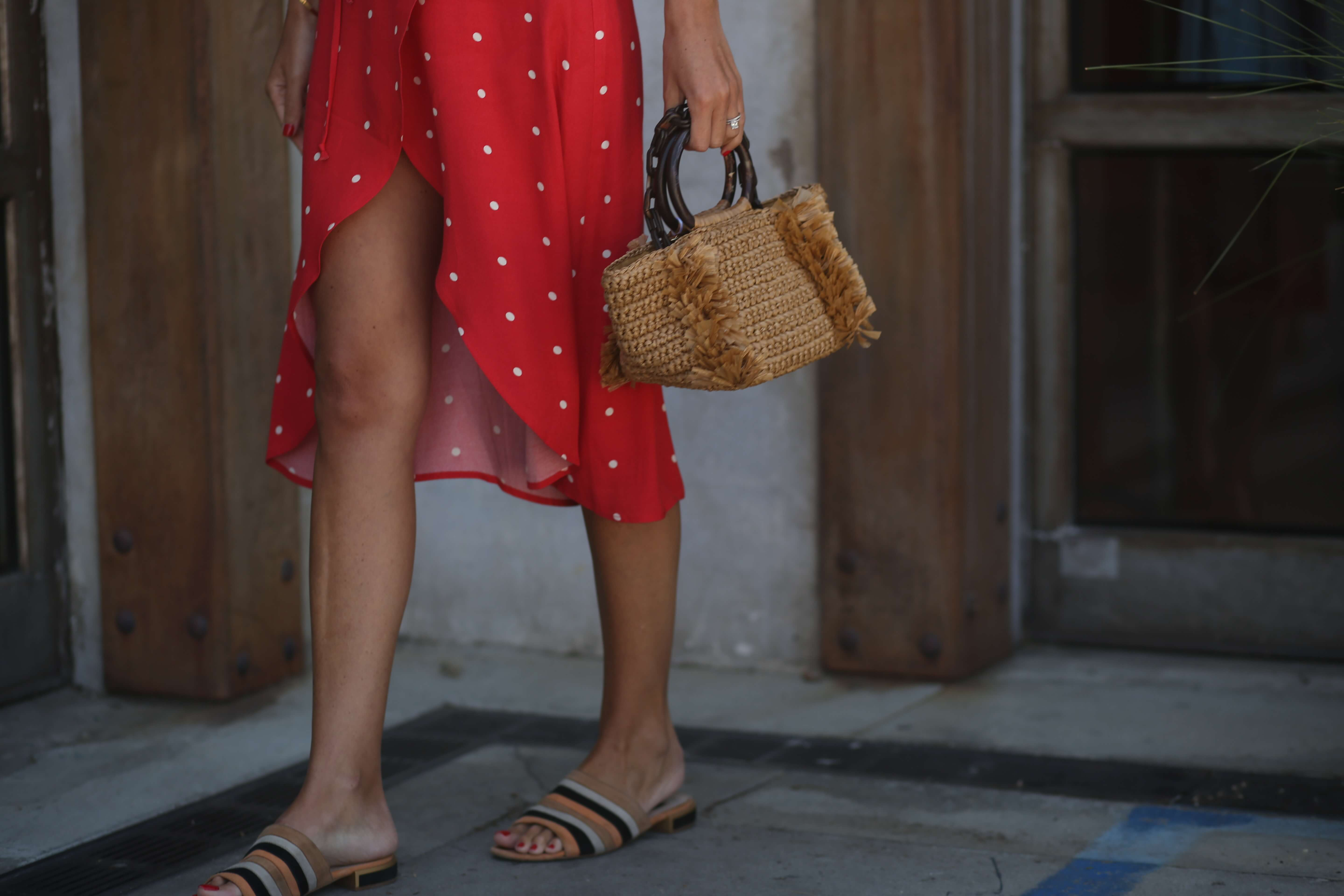California love | Reformation red dress