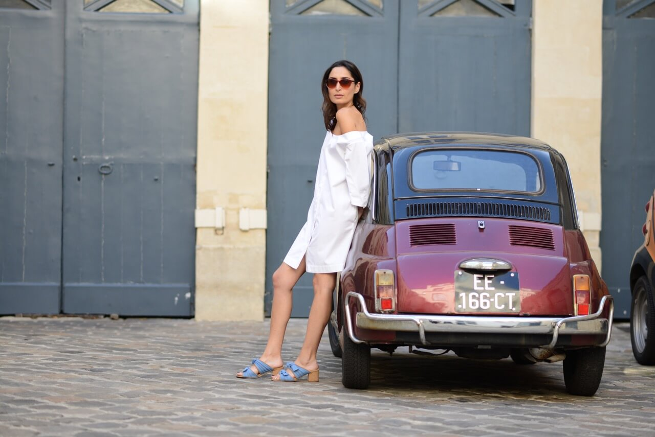 Parisian dolce vita | Isa Arfen little white dress