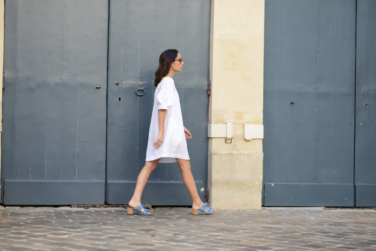 Parisian dolce vita | Isa Arfen little white dress