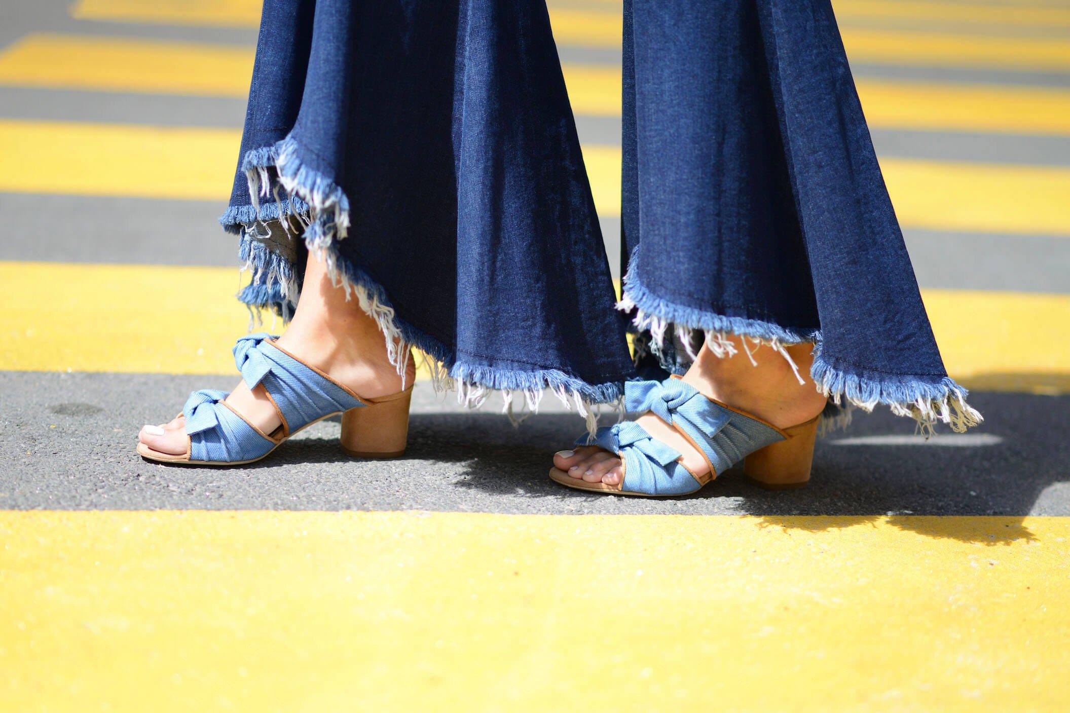 denim forever | asymmetric jeans